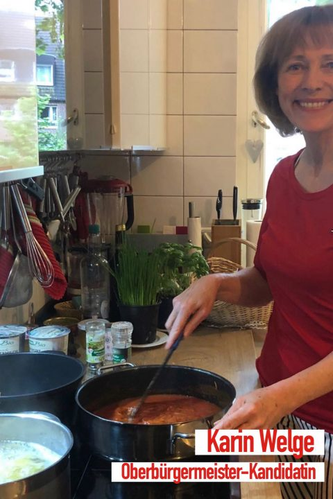 Frau Welge kocht Spaghetti oder hat der Wahlkampf schon begonnen?